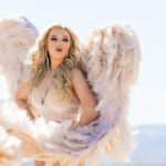 Las Vegas El Dorado Dry Lake Bed Fashion Inspired Portrait Senior Photography Session by DSA Photography Girl with Angel Wings