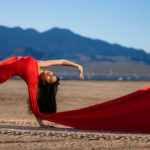Las Vegas El Dorado Dry Lake Bed Fashion Inspired Portrait Senior Photography Session by DSA Photography Girl in Red Dress