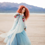 Las Vegas El Dorado Dry Lake Bed Fashion Inspired Portrait Senior Photography Session by DSA Photography Girl with Red Hair